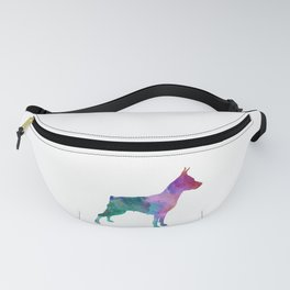Miniature Pinscher dog in watercolor Fanny Pack