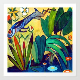 Amadeo de Souza Cardoso The Leap of the Rabbit Art Print