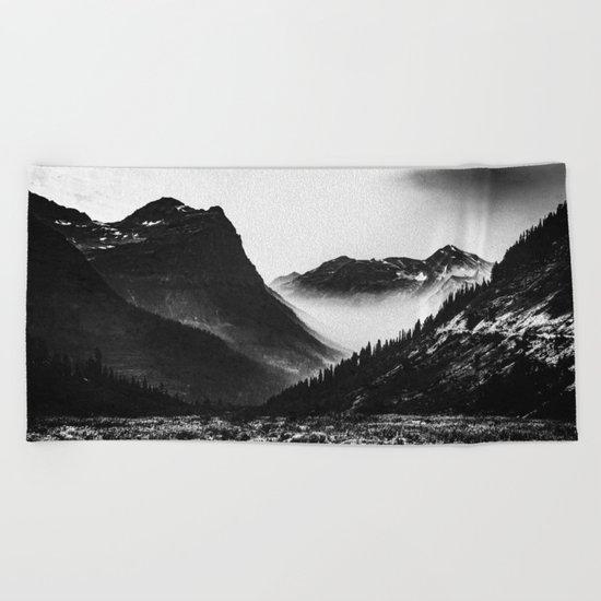 Mountain Valley Glacier National Park Beach Towel