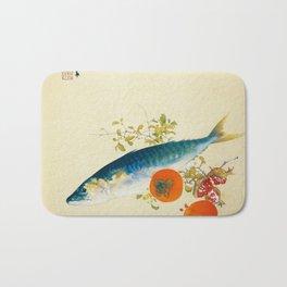 12,000pixel-500dpi - Takeuchi Seiho - Autumn Fattens Fish and Ripens Wild Fruits - Digital Remaster Bath Mat