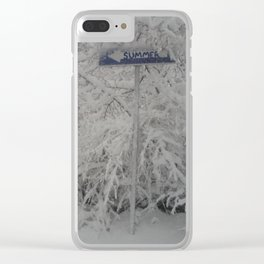 Road to Summer Clear iPhone Case
