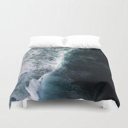 Oceanscape - White and Blue Duvet Cover