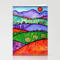 north carolina Stationery Cards featuring Landscape - Boone, North Carolina by Karen Hickerson