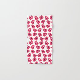 Hot Lips Pattern Hand & Bath Towel