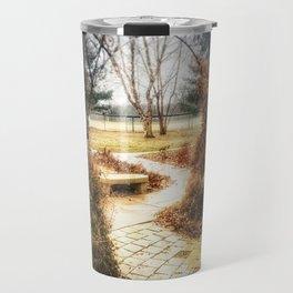 Winding Path - Centennial Garden, Middle Park, Bettendorf, IA Travel Mug