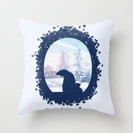 Polar Brrr Throw Pillow