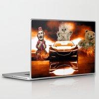 honda Laptop & iPad Skins featuring HONDA NSX,RACING CAR,NIGHTMARE by ira gora