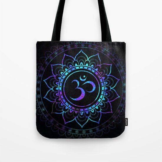 Om Mandala: Colorful Galaxy Tote Bag
