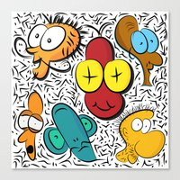cartoon Canvas Prints featuring Cartoon by John's Michelle