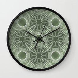 Circled in Shades of Emerald Green Wall Clock