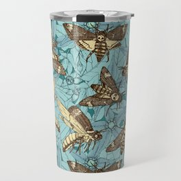 Death's-head hawkmoth teal Travel Mug
