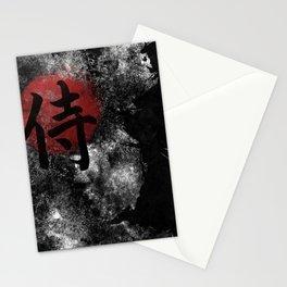 Kanji Samurai Grunge Stationery Cards