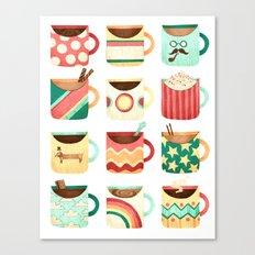 Coffee Coffee Coffee Coffee Coffee Canvas Print
