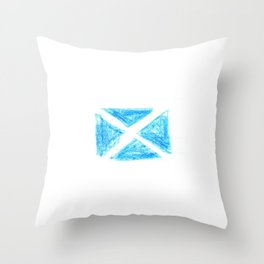 flag of scotland 6– scotland,scot,scottish,Glasgow,Edinburgh,Aberdeen,dundee,uk,cletic,celts,Gaelic Throw Pillow