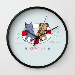 Rescue Wall Clock