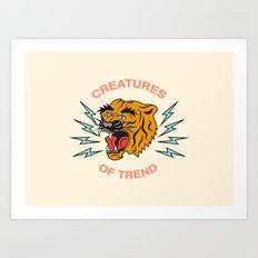 Creatures of Trend Art Print