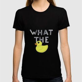 WHAT THE DUCK written with duck tape T-shirt