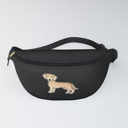 Yellow Labrador Retriever Dog Cute Cartoon Illustration Fanny Pack