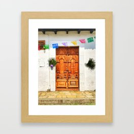 Door, Holy Week 2017 (San Cristóbal de las Casas, Chiapas, Mexico) Framed Art Print