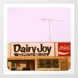 Dairy Joy ~ vintage ice cream sign/stand Art Print