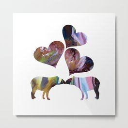 Tapir Art Love Metal Print