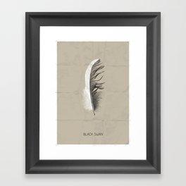 Black swan poster Framed Art Print