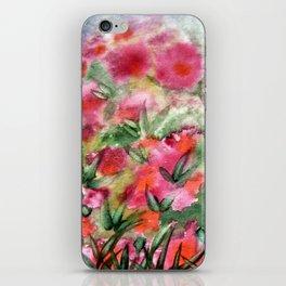 Flowers in the corner iPhone Skin