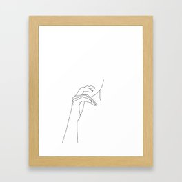 Hands line drawing illustration - Grace Framed Art Print