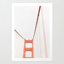 On the Golden Gate Bridge Art Print