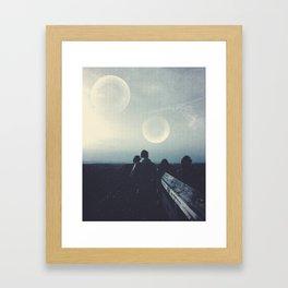 Worlds Colliding Framed Art Print