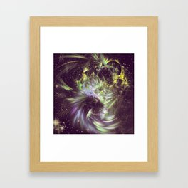Twisted Time - Black Hole Effects Framed Art Print