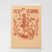 old school Stationery Cards featuring Old school by Tshirt-Factory