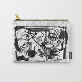 Chit-Chat - b&w Carry-All Pouch