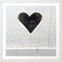 Peeking into your heart Art Print