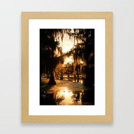 Bayou Fire Framed Art Print