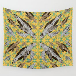 Flotilla of Sea Turtles VII Wall Tapestry
