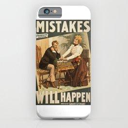 Vintage Theatre Poster iPhone Case