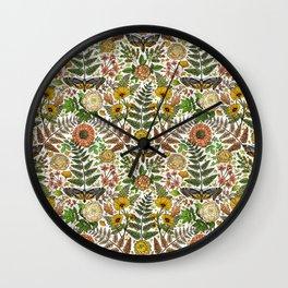 Summer Meets Autumn in the Garden  Wall Clock