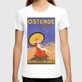 Ostend Queen of beaches jazz age T-shirt