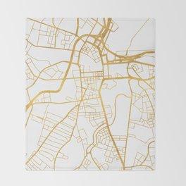 BELFAST UNITED KINGDOM CITY STREET MAP ART Throw Blanket