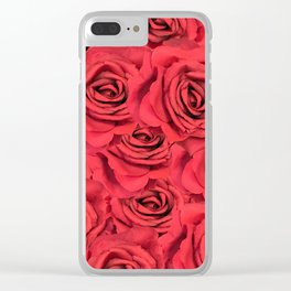 Radical Red Roses Clear iPhone Case