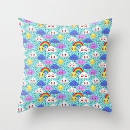 Scattered Showers Throw Pillow