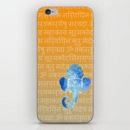 Watercolor Ganesha iPhone Skin