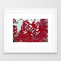 pocket fuel Framed Art Prints featuring Fuel by AmandaMuses