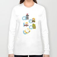 medieval Long Sleeve T-shirts featuring Medieval Vowels by Alapapaju