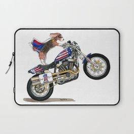 Beagle on Motorcycle Laptop Sleeve