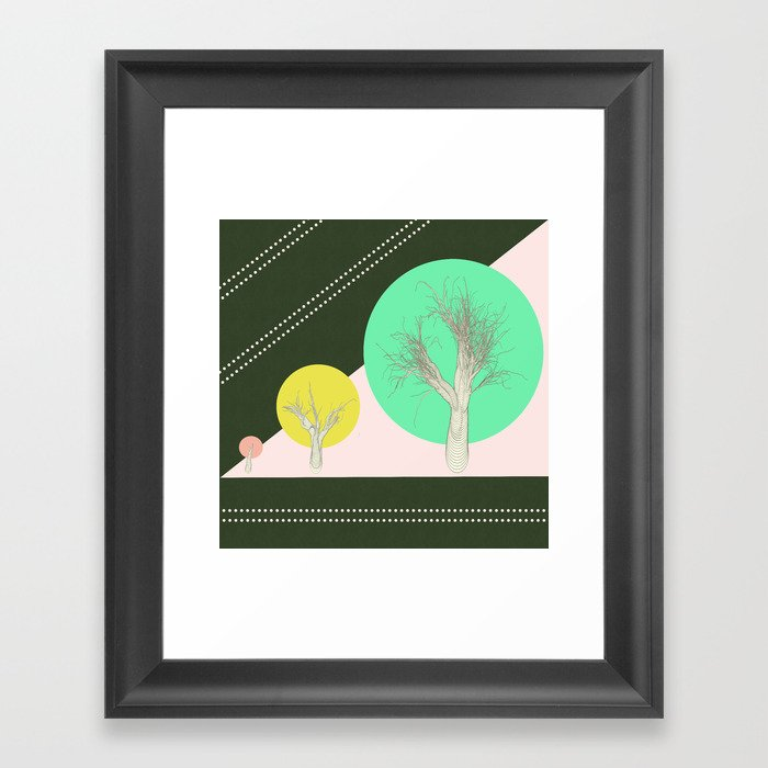 In my world forests are geometric Framed Art Print