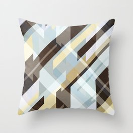 Geometric Earth Tones Abstract Throw Pillow