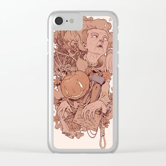 Mega Spoops Clear iPhone Case