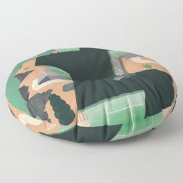 Sunrise Floor Pillow